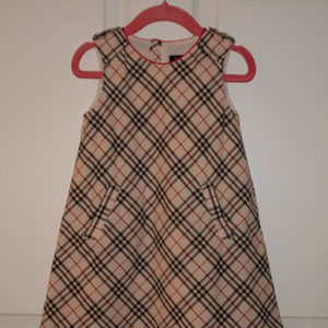 Burberry Classic Check Print Woven Dress Size 2T